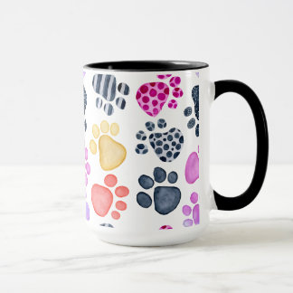 Paw Print ringer mug