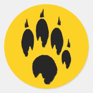 Paw Print Yellow Stickers