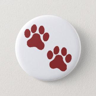 Paw Prints 2 Inch Round Button