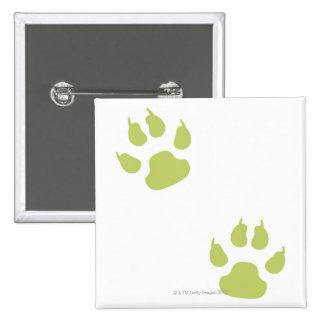 Paw Prints 2 Inch Square Button