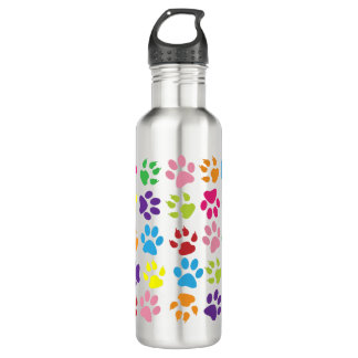 Paw Prints 710 Ml Water Bottle