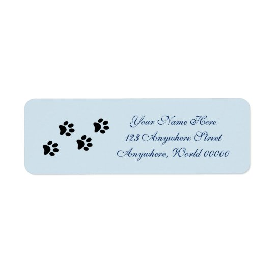 Paw Prints Address Labels