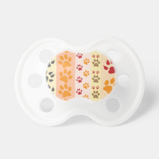 Paw Prints Background Pacifier
