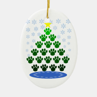 Paw Prints Christmas Tree Ornament