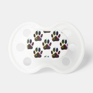 Paw Prints Confetti And Party Streamer Pattern Baby Pacifier