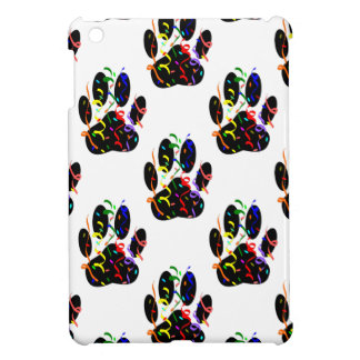 Paw Prints Confetti And Party Streamer Pattern iPad Mini Covers
