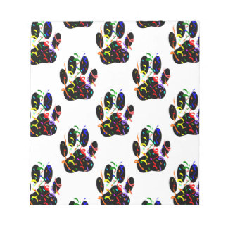 Paw Prints Confetti And Party Streamer Pattern Notepads
