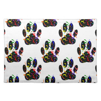 Paw Prints Confetti And Party Streamer Pattern Placemat