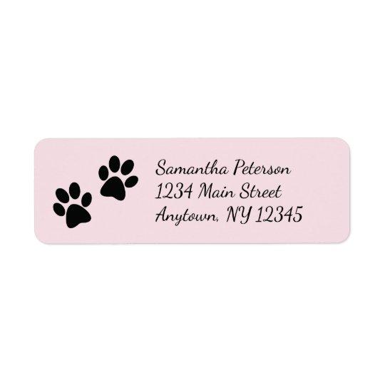 Paw Prints Design Return Address Labels