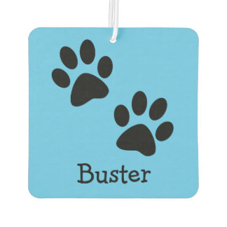 Paw Prints Dog Name Customizable Air Freshener