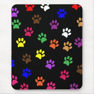 Paw prints dog pet colorful fun mousepad