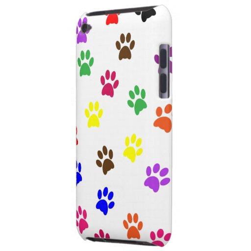 Paw prints dog pet fun colorful cute pawprints iPod Case-Mate case