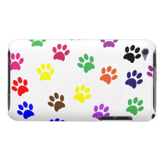 Paw prints dog pet fun colorful cute pawprints barely there iPod case