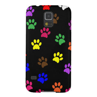 Paw prints dog pet fun colorful cute pawprints case for galaxy s5