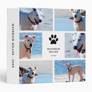Paw Prints - Dog Photo Collage 3 Ring Binder