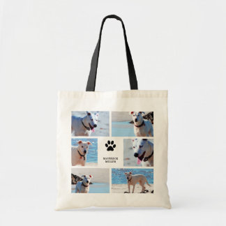 Paw Prints - Dog Photo Collage Tote Bag