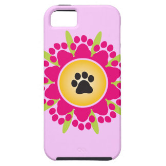 Paw Prints Flower iPhone 5 Cases