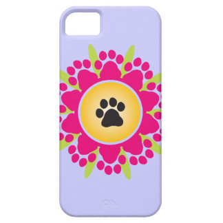 Paw Prints Flower iPhone 5 Covers