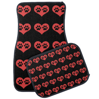Paw Prints In My Heart by Shirley Taylor Car Mat
