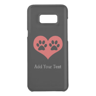Paw Prints In My Heart by Shirley Taylor Uncommon Samsung Galaxy S8 Plus Case