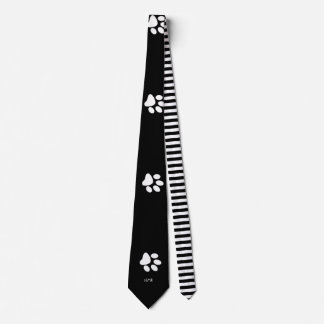 Paw Prints in the Night Tie