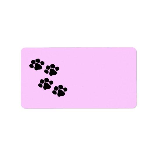 Paw Prints Label