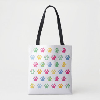 Paw Prints Luxury Tote Bag