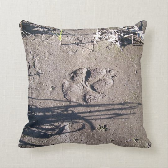 Paw Prints (nature series) Throw Pillow