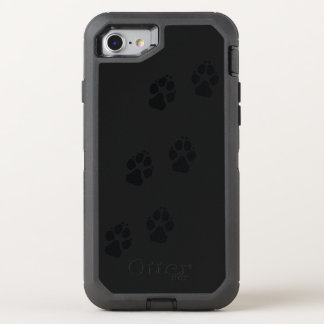 Paw prints of a dog OtterBox defender iPhone 7 case