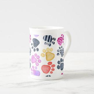 Paw Prints on bone china mug