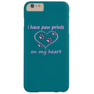 Paw Prints on my Heart Barely There iPhone 6 Plus Case