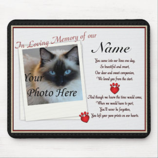 Paw Prints on Our Hearts Pet Memorial Mouse Pad