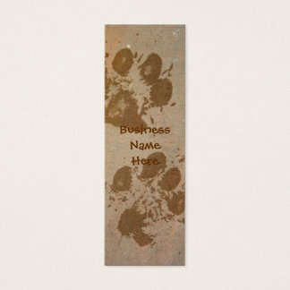 Paw Prints on Stone Bookmark Business Cards