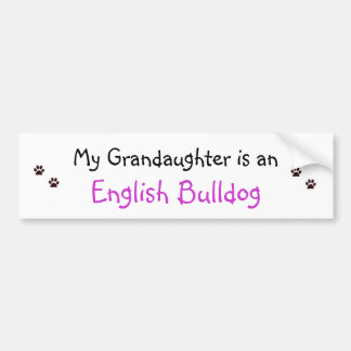 paw prints, paw prints, My Grandaughter is an, ... Bumper Sticker