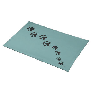 Paw Prints Placemat (teal)