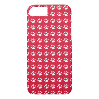 Paw Prints (red) iPhone 7 Case