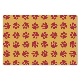 Paw Prints Red Tissue Paper