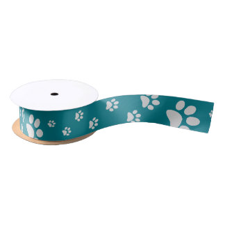 Paw Prints Ribbon Satin Ribbon