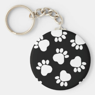 Paw Prints - Talk to the Paw! Black and White Keychain