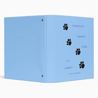 Paw Prints Vinyl Binder