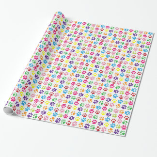Paw Prints Wrapping Paper
