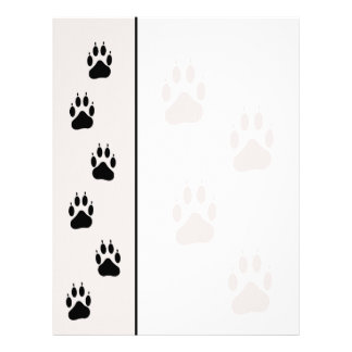 Paw Track Animal Care Letterhead Stationary