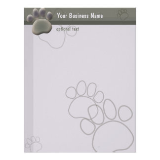 Paw Tracks Veterinarian Business Letterhead
