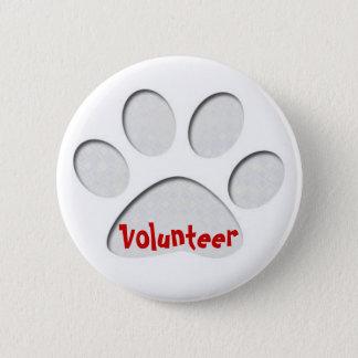 paw, Volunteer 2 Inch Round Button
