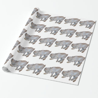 Pawing Tan Baby Goat Wrapping Paper