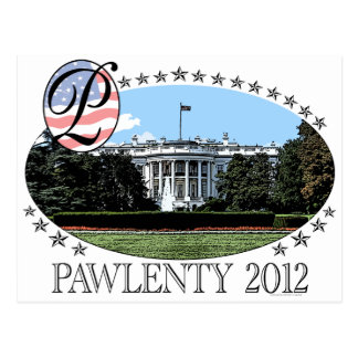 Pawlenty White House 2012 Postcard