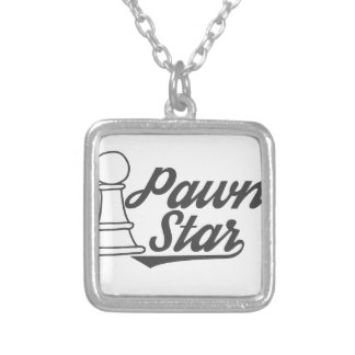 pawn star chess club silver plated necklace