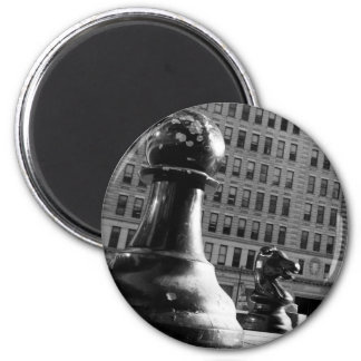 Pawn-vs-Knight 2 Inch Round Magnet