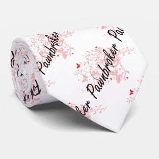 Pawnbroker Artistic Job Design with Butterflies Tie