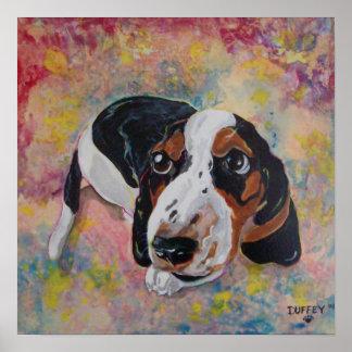PAWP-ART Basset hound puppy print